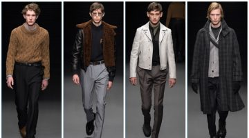 Salvatore Ferragamo presents its fall-winter 2017 men's collection during Milan Fashion Week.