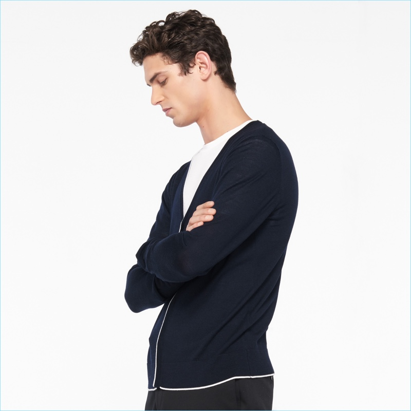 Sandro Men's Cardigan Sweater