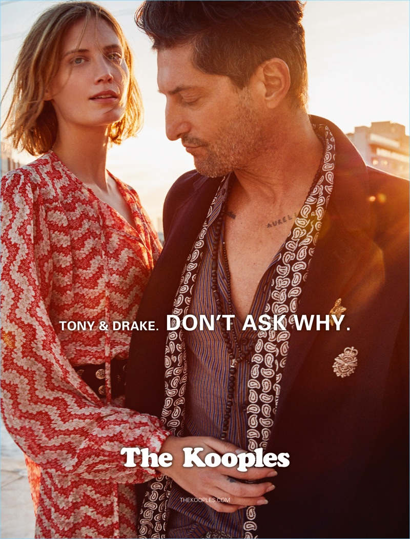 Taking to Los Angeles, Drake Burnette and Tony Ward front The Kooples' spring-summer 2017 campaign.