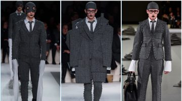 Thom Browne presents its fall-winter 2017 men's collection during Paris Fashion Week.