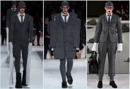 Thom Browne's Fall '17 Collection Makes Quite the Case for Grey Herringbone