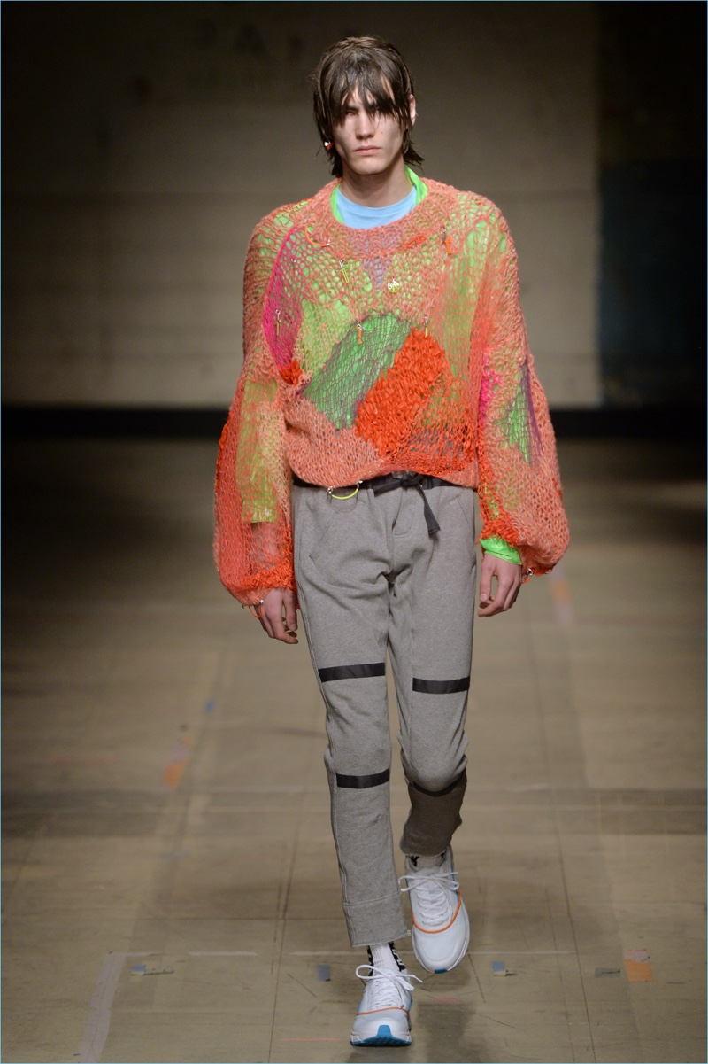 Topman takes an acid trip with bold colors for a playful fall-winter 2017 sweater.