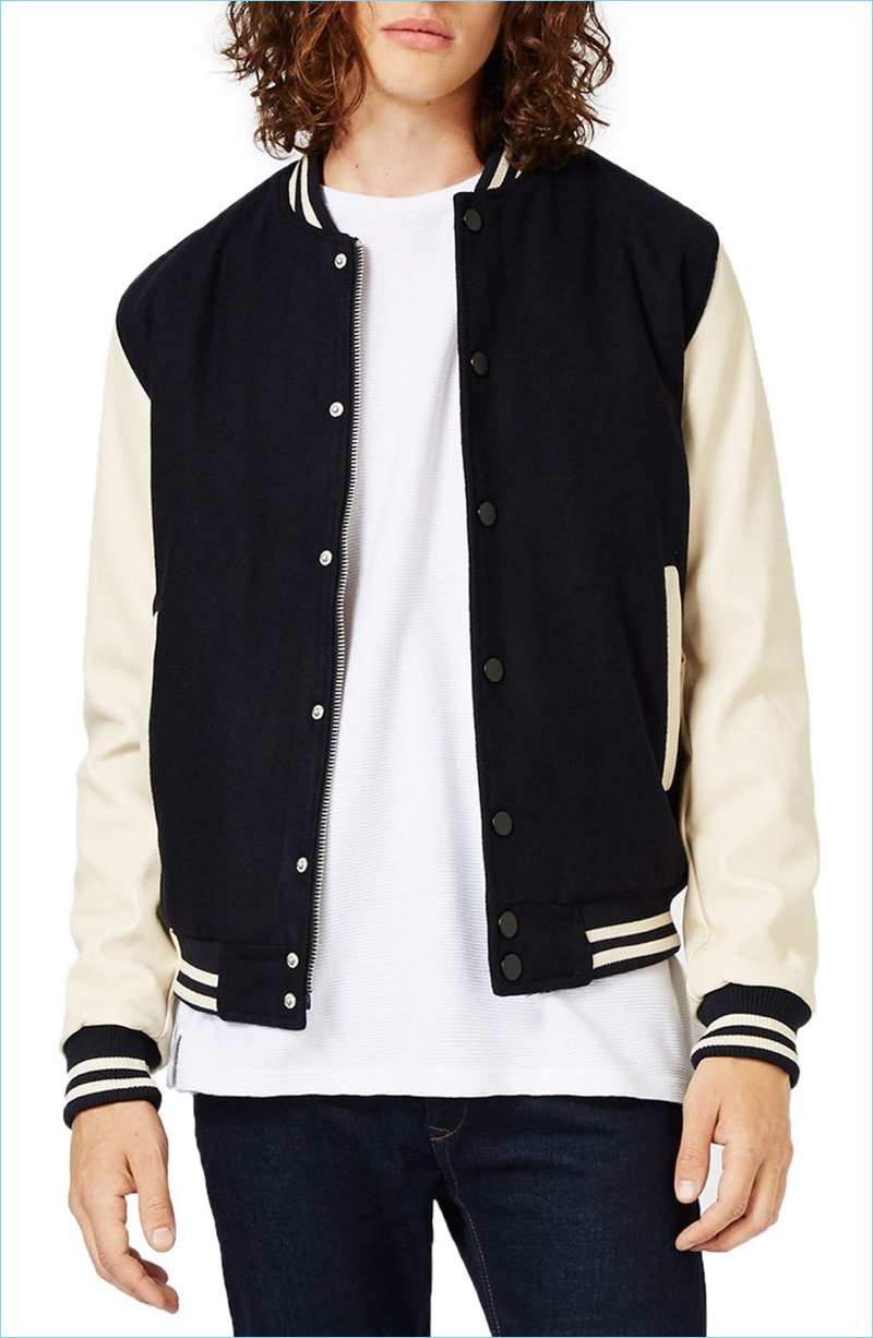 5fa9b5d37 Topman Varsity Bomber Jacket | The Fashionisto