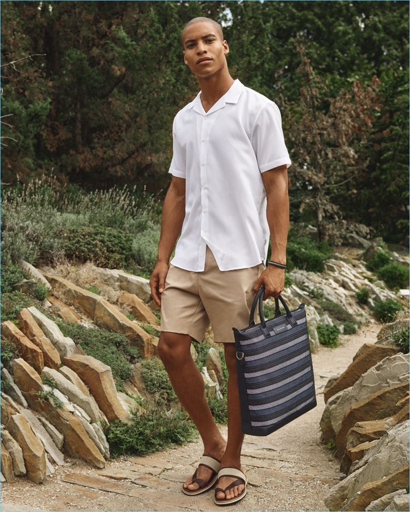 Malik Lindo stars in WANT Les Essentiels' spring-summer 2017 campaign.