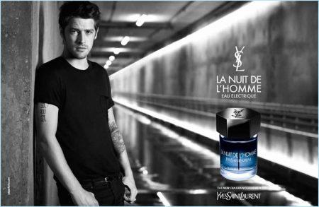 Vinnie Woolston Stars in Yves Saint Laurent's La Nuit de L'Homme Eau Électrique Campaign
