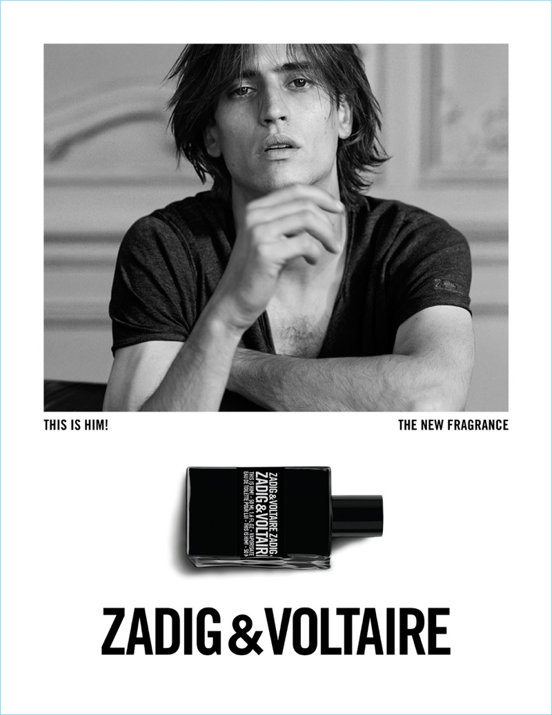 Model Sam Lammar stars in Zadig & Voltaire's This is Him! fragrance campaign.