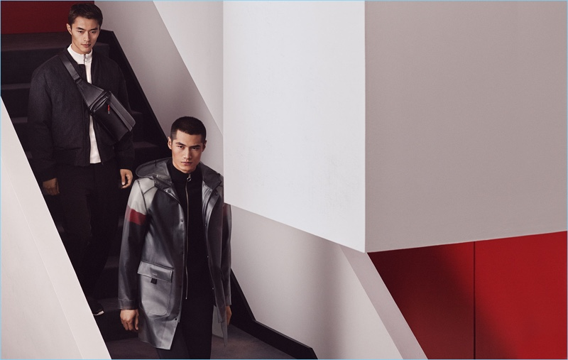 Zara Man enlists models Zhao Lei and Hao Yun Xiang to wear fashions from its Chinese New Year special collection.