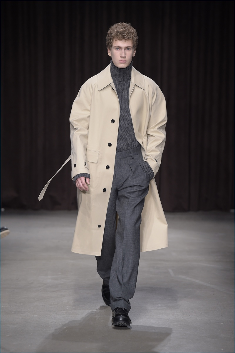 8beb3abafc78 The iconic trench coat is front and center for BOSS Hugo Boss  fall-winter