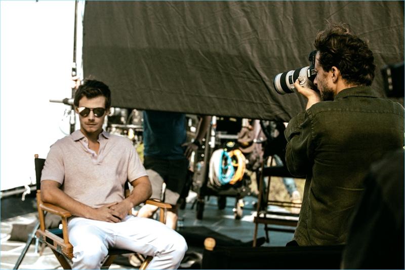 Behind the Scenes: Francesco Carrozzini photographs McCaul Lombardi for Ermenegildo Zegna's Defining Moments campaign.