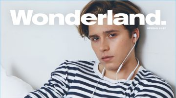 Brooklyn Beckham covers the latest issue of Wonderland magazine.