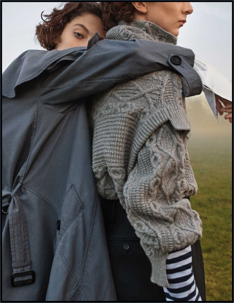 Josh Olins photographs Amber Witcomb and Tom Fool at Henry Moore Studios & Gardens for Burberry's February 2017 campaign.