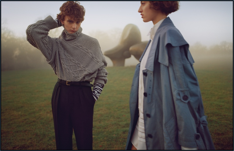 Models Tom Fool and Amber Witcomb star in Burberry's February 2017 campaign.
