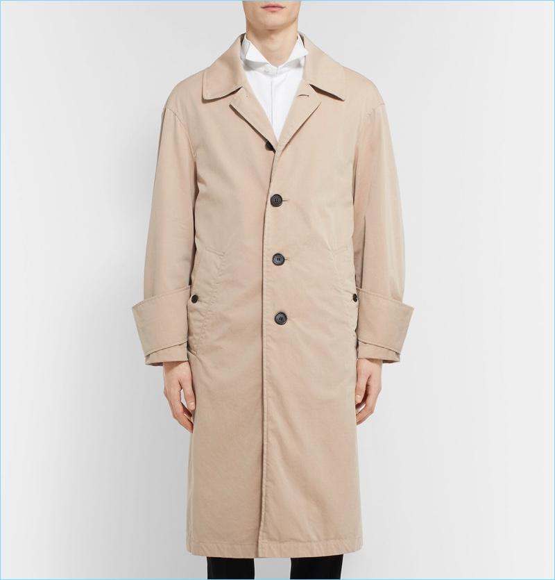 Burberry Men's Oversized Trench Coat