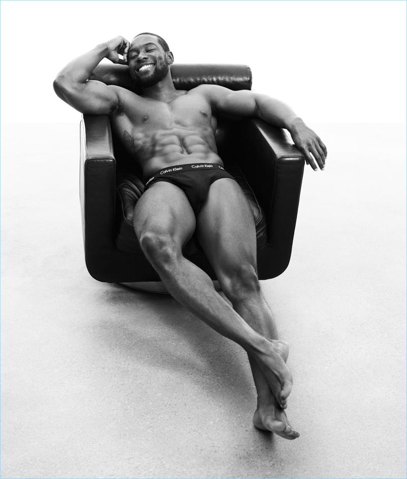 All smiles, Trevante Rhodes stars in Calvin Klein Underwear's spring-summer 2017 campaign.