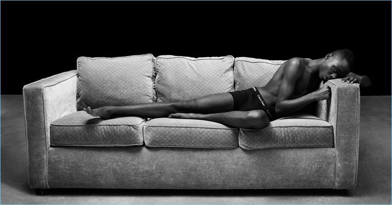 Ashton Sanders appears in Calvin Klein Underwear's spring-summer 2017 campaign, wearing cotton stretch boxer briefs.