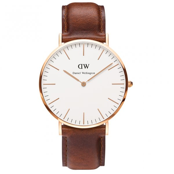 Daniel Wellington 0106DW Classic 40 St Mawes Gents Brown Leather Watch