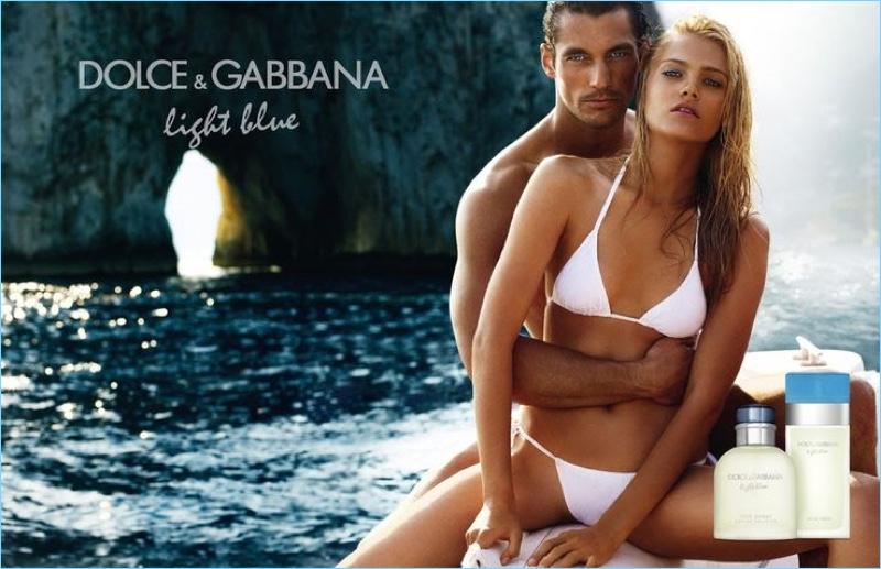 2010: David Gandy couples up with Anna Jagodzinska for Dolce & Gabbana Light Blue's campaign.