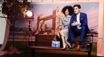 All smiles, Nathalie Emmanuel and Isaac Carew star in Dune London's new campaign.