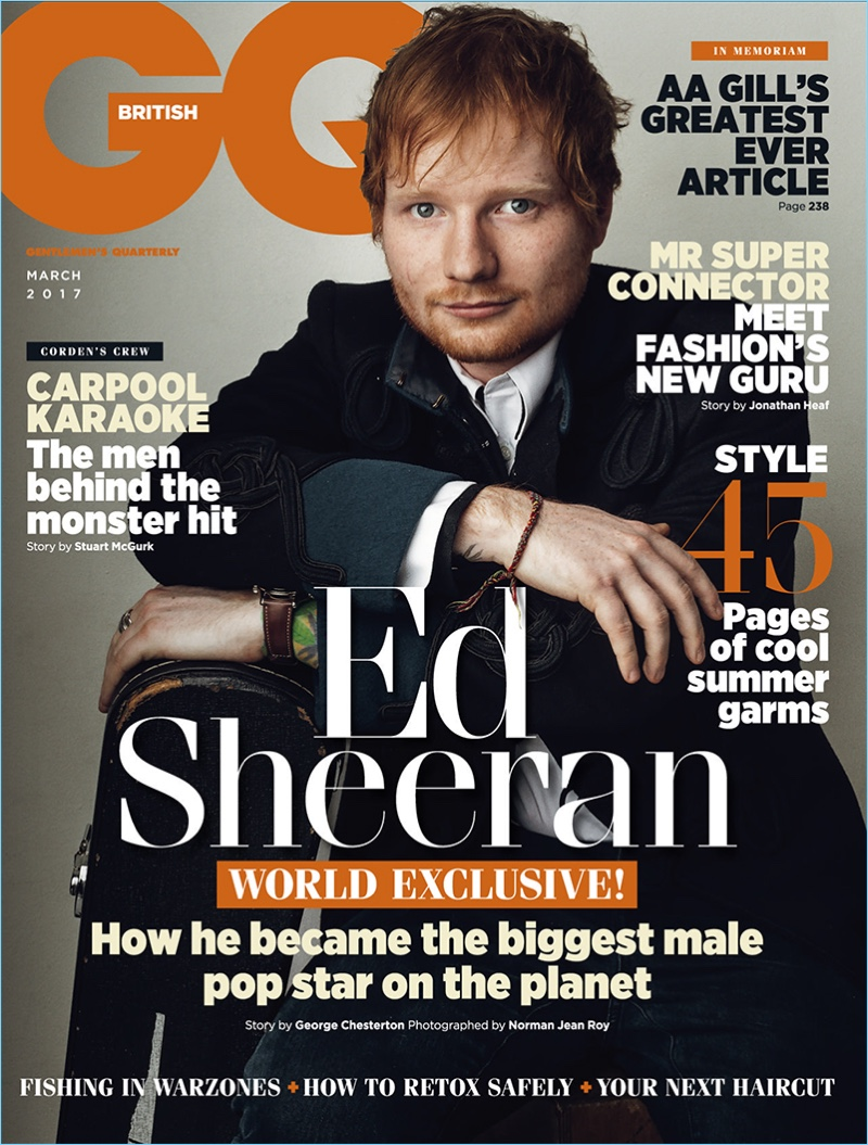 Ed Sheeran Covers British GQ, Talks Music As Competition