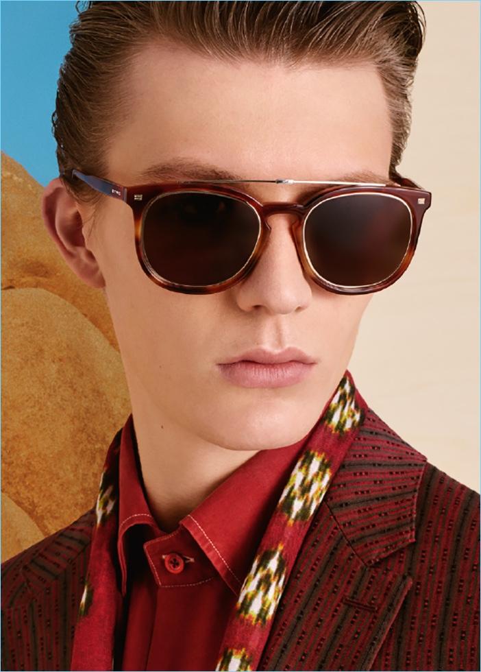 Finnlay Davis fronts Etro's spring-summer 2017 eyewear campaign.