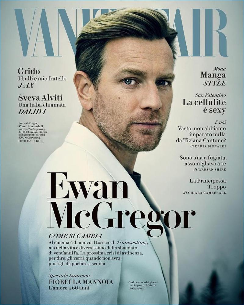 Ewan McGregor covers the February 2017 issue of Vanity Fair Italia.
