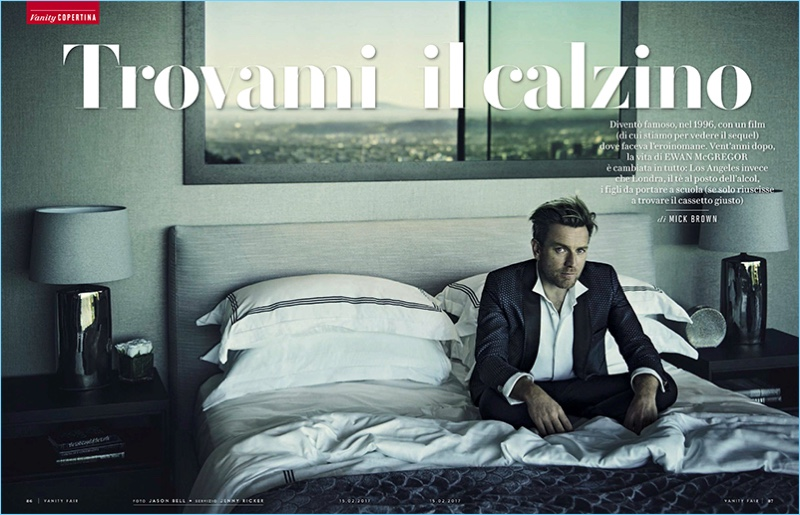 Jason Bell photographs Ewan McGregor for Vanity Fair Italia.