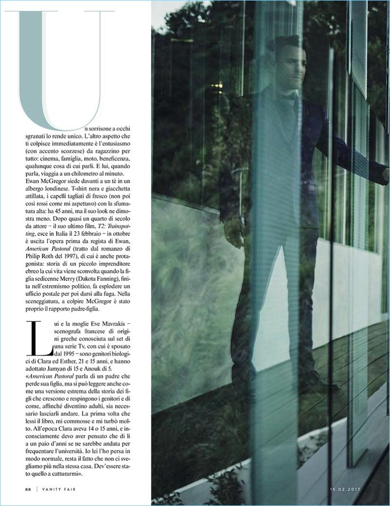 Vanity Fair Italia features Ewan McGregor for its most recent issue.