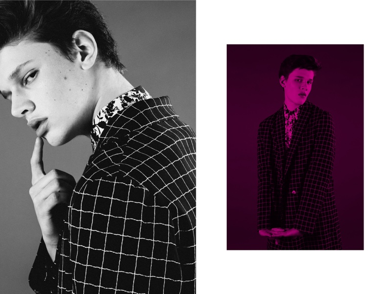 Joao wears coat Christian Pellizzari, shirt Department 5, and shorts Les Hommes.