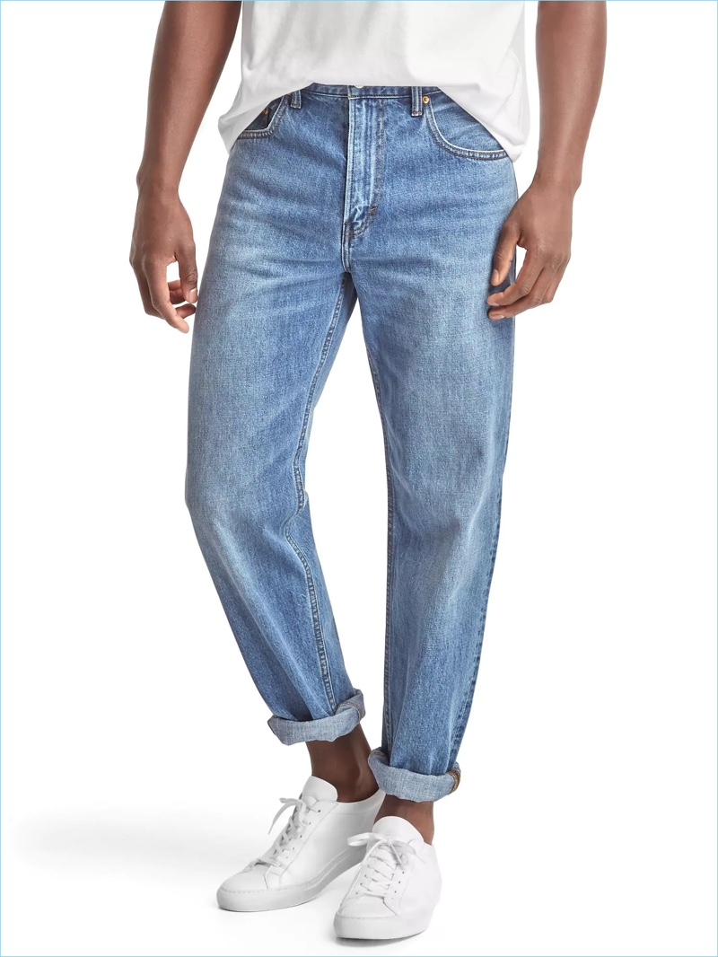 Relaxed is back in as Gap turns out easy fit denim jeans as part of its Archive Re-Issue collection.