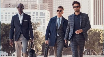 J.Hilburn enlists models Armando Cabral, John Pearson, and Josh Wald for its spring-summer 2017 lookbook.