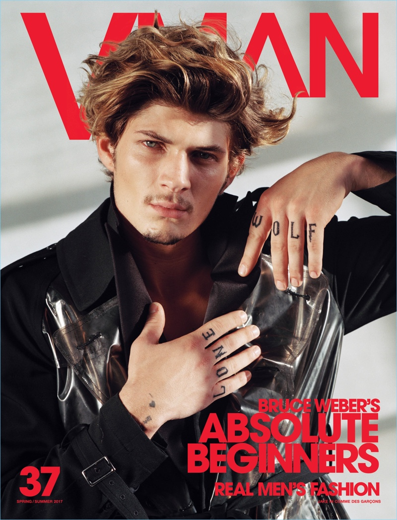 Bruce Weber photographs Jake Lahrman for the latest cover of VMAN.