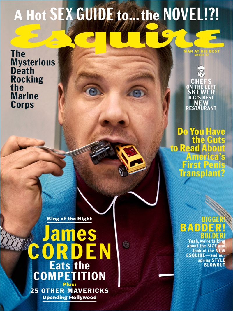James Corden covers the March 2017 issue of Esquire magazine.