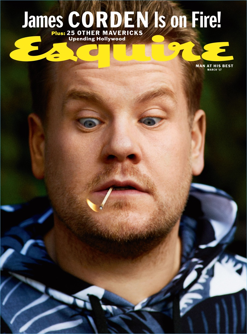 Cédric Buchet photographs James Corden for the subscriber's cover of Esquire's March 2017 issue.