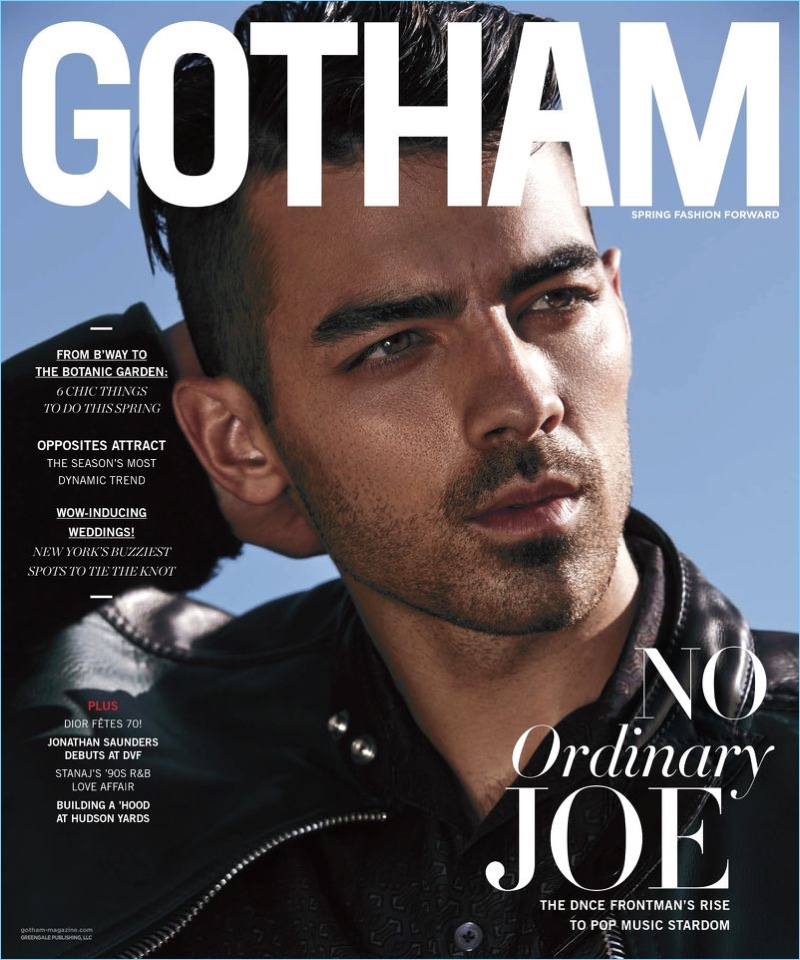 Joe Jonas covers the most recent issue of Gotham magazine.