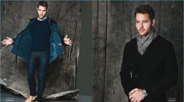 Actor Justin Hartley wears Louis Vuitton for the pages of Haute Living.