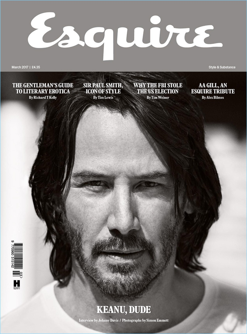 actor keanu reeves covers the march 2017 issue of esquire uk