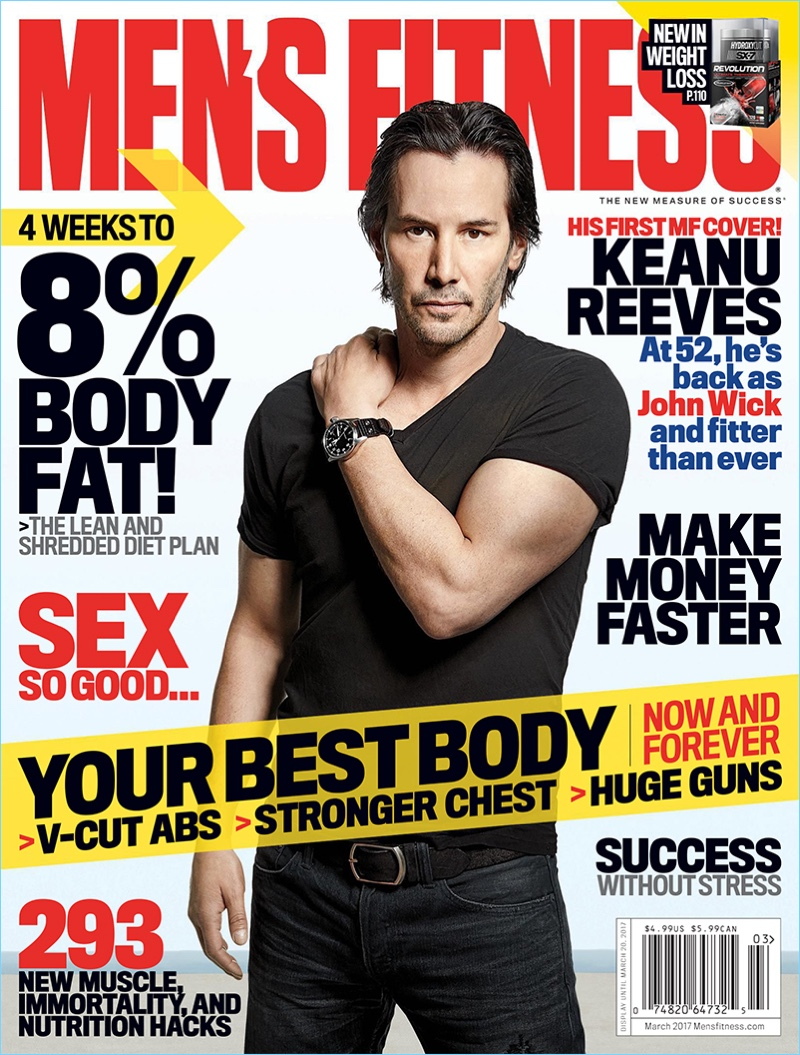 keanu reeves covers esquire uk amp mens fitness