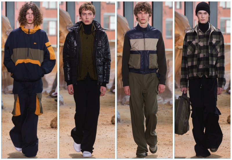 Lacoste presents its fall-winter 2017 men's collection during New York Fashion Week.