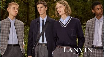 Rich Cole, Joby Barrett, Tony Minenkov, and Montell Martin star in Lanvin's spring-summer 2017 campaign.