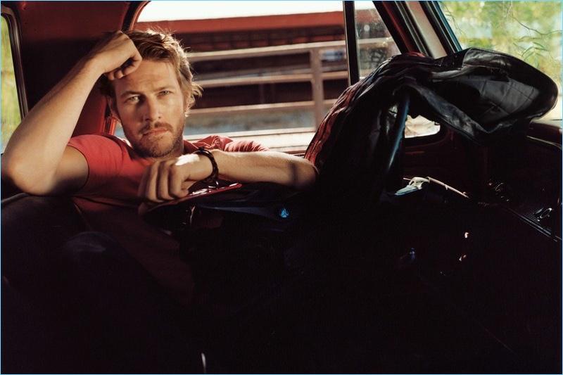 Bruce Weber photographs Luke Bracey for Ralph Lauren's Polo Red.