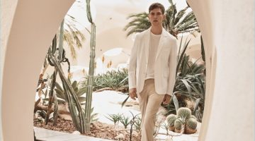 Josh Olins photographs Mathias Lauridsen in summer suiting from Mango's Committed Collection.