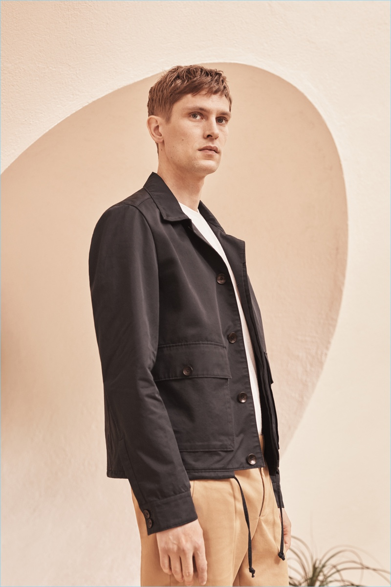Mathias Lauridsen fronts the campaign for Mango Man's Committed Collection.