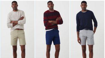 Jourdan Copeland models Bermuda shorts from Mango Man.