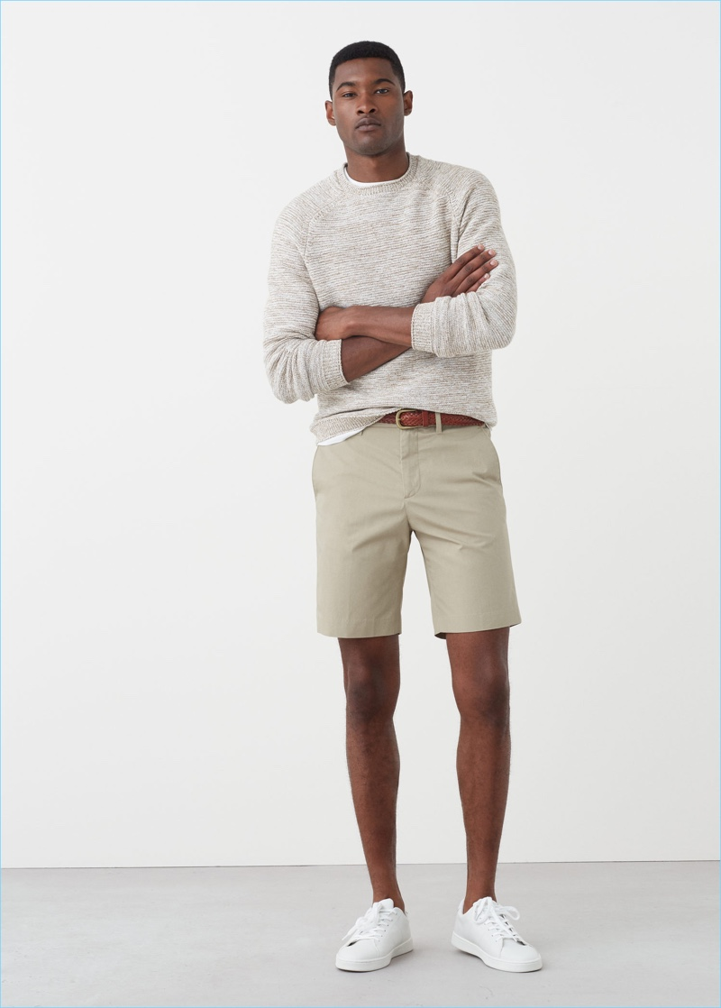 Embrace neutrals with a pair of khaki Bermuda shorts from Mango Man.
