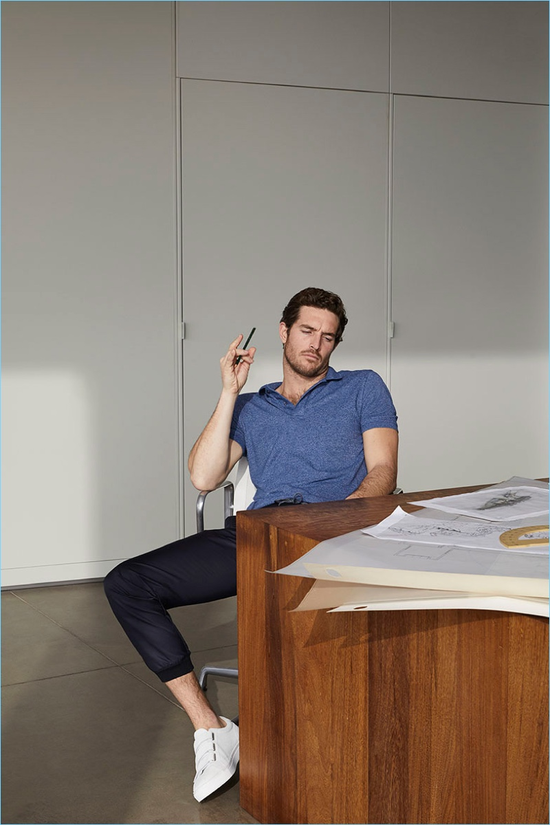 Spanish brand Massimo Dutti delivers comfortable essentials such as the polo and joggers for its Soft Collection.