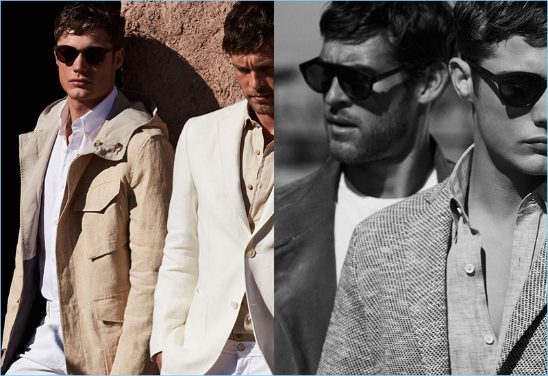 Models Steven Chevrin and Josh Upshaw appear in Massimo Dutti's spring-summer 2017 campaign, which was photographed in Marrakech.