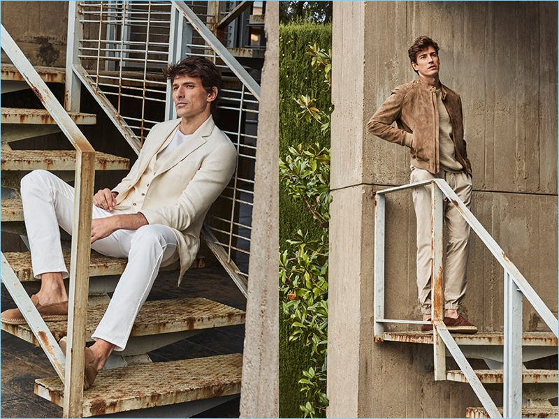 Hunter & Gatti photographs Andres Velencoso and Oriol Elcacho for Massimo Dutti.