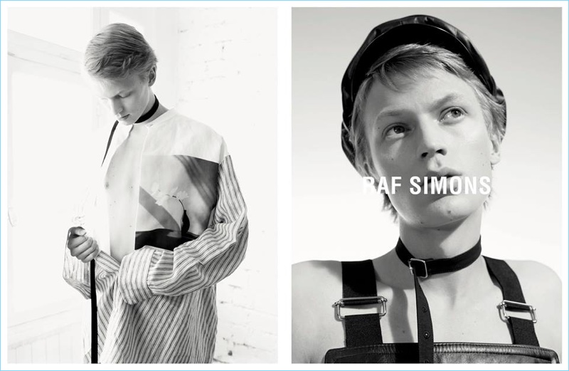 Jonas Glöer adds another campaign to his portfolio with Raf Simons' spring-summer 2017 efforts.