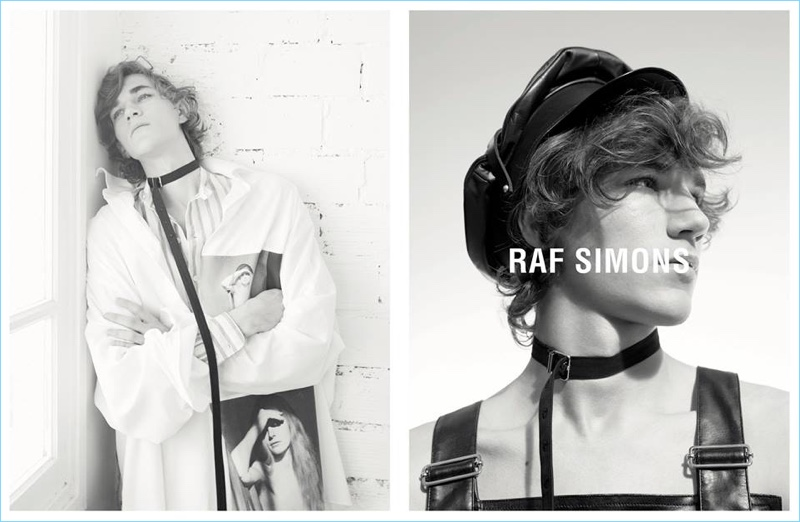Nikolas Claes appears in Raf Simons' spring-summer 2017 ad campaign.