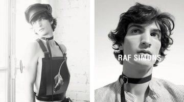 Luca Lemaire reunites with Raf Simons for the designer's spring-summer 2017 campaign.